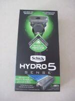 SCHICK HYDRO 5 SENSE SENSITIVE RAZOR (1 HANDLE & 2 CARTRIDGES NEW