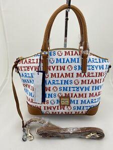 Dooney Bourke MLB Miami Marlins Charli Satchel Hand Bag White NWT PRICED TO SELL