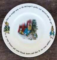 "VINTAGE PETER RABBIT BEATRIX WEDGWOOD ENGLAND PORCELAIN PLATE ""UNDER THE GATE"""