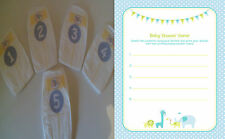 Dirty/Sniff Baby Shower Nappy Game - blue/boy & player sheets