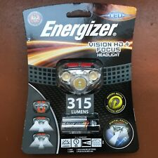 NEW Energizer Vision HD+ Focus 315 Lumens Headlight LED with 3 AAA Max batteries