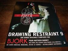 BJORK - PUBLICITE / ADVERT DRAWING RESTRAINT 9 !!!!!!!
