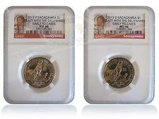 NGC MS66 2013 P&D Sacagawea Native American Dollar Set Early Releases
