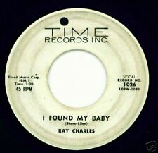 RAY CHARLES - Time 1026 - I Found My Baby - BLUES DJ 45