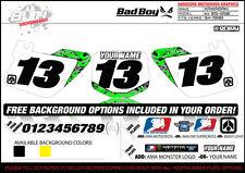 1994-1998 Kawasaki KX125 250 Graphics Number Plate  Backgrounds Badboy Enjoy Mfg