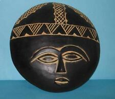 """9"""" AFRICAN Ethnic Tribal MASK  FERTILITY DOLL PLAQUE FACE STATUE ALTAR HEAD"""