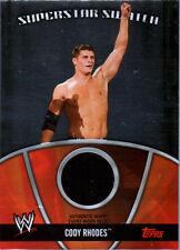 WWE Cody Rhodes 2010 Topps Superstar Swatch Event Worn Relic Card Black DWC1