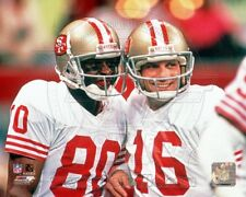 JERRY RICE JOE MONTANA 49ERS 8X10 PHOTO *LICENSED*