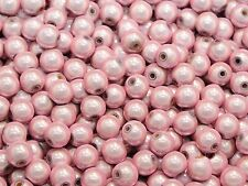 100 Pink 3D Illusion Acrylic Miracle Round beads 8mm Spacer Craft DIY