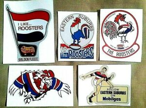 5 EASTS Vinyl Sticker Decal NRL ROOSTERS SYDNEY CITY EASTERN SUBURB rugby league