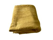 """African Plain Mustard Color Mud Cloth Textile Mali 60"""" by 40"""""""