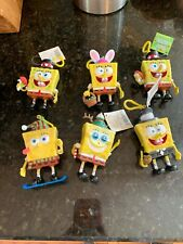 Spongebob Squarepants Holiday Candy Dispenser Chip-On Lot of 6 Key Chain P51 B