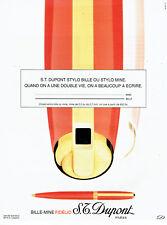 Publicité advertising 118  1994   le bille-mine Fidélio S.T Dupont   stylo