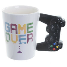 Cup Game over Cup Gaming Controller Retro Geek Nerd Gamer Present