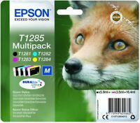 Genuine Epson Fox T1285 (4 Pack) Cartridge SX130 SX125 SX425W S22 SX235W  New