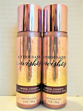 Bath Body Works A THOUSAND WISHES Crystal Confetti Hair Body Shimmer Spray, NEW