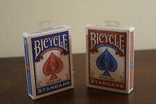 2 Decks of Bicycle Playing Cards (Red and Blue Standard), Brand New Sealed