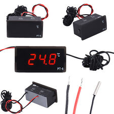 12V Digital LCD Display Temperature Meter Indoors Outdoors Thermometer ℃ Mini