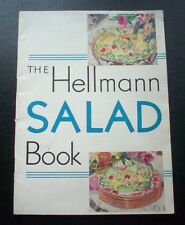 1930 THE HELLMANN SALAD'S BOOK PAPER BACK ILLUSTRATED ENGLISH