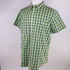 NWT J. Ferrar Men's Slim Fit Short Sleeve Button Front Shirt Size XL (17-17.5)