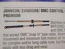 JOHNSON EVINRUDE CONTROL CABLE UFLEX MACH14 SHIFT THROTTLE CABLE 22FT MC14X22
