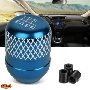 JDM Universal Netted Style Manual Transmission 6-Speed Shift Knob 42mm Baby Blue
