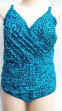 Geometric Plus Size One-Piece Swimwear for Women