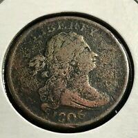 1806 DRAPED BUST HALF CENT SCARCE COIN