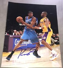 KEVIN DURANT SIGNED AUTOGRAPH NBA THUNDER STAR FULL ACTION 11x14 PHOTO COA A