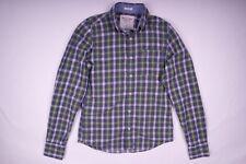 Abercrombie & Fitch Muscle Langarm Hemd Button-Down-Kragen Blau Herren Gr. S