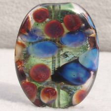 CORVALLIS Handmade Art Glass Focal Bead Flaming Fools Lampwork Art Glass SRA