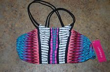 Bikini TOP Multi Color Print Size S Women by Xhilaration NWT