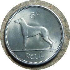 elf Ireland 6 Pence 1960  Dog  Wolfhound