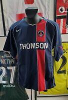 Maillot jersey shirt trikot maglia PSG paris vintage 2004 2005 pauleta Thomson L