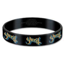 Ghost  pulsera negro logotipo de la banda pulsera de goma gomoso oficial