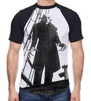 Nosferatu the Vampire Ship Men's All Over Baseball T Shirt - Goth Gothic Horror