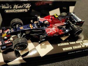 Minichamps F1 Vettel Scuderia Toro Rosso STR3 Italian Monza 2008 1/43 Rain Tires