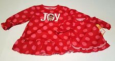 """Carters Infant Christmas """"JOY"""" Dress for Her & Doll Size 12 mo & 18"""" Doll - NWT"""