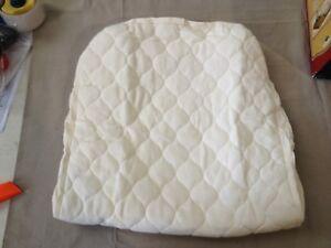 American Baby Company Natural Organic Cotton Bassinet Mattress Pad Cover