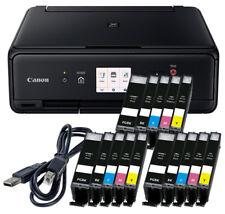 Spar Set Canon Pixma TS-5050 DRUCKER SCANNER KOPIERER WLAN + 15x XL TINTE + USB