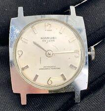 Marubi Du Luxe Cal. Rl 011A Main Manuel Vintage 29 mm Pas Fonctionne pour Pièces