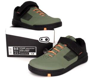 Crank Brothers Stamp SpeedLace+ Mountain Bike Flat Shoes Green, US 9.5/43 EU
