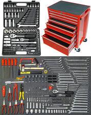 FAMEX 841-40 Werkstattwagen Werkzeugwagen gefüllt mit Werkzeug + Knarrenkasten