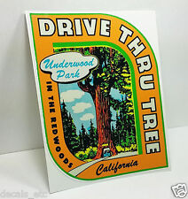 Redwoods California Vintage Style Travel Decal Vinyl Sticker Luggage Label