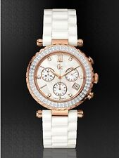 GUESS COLLECTION SWISS MADE 102 DIAMOND CERAMIC CHRONOGRAPH WATCH, NEW G22104M1