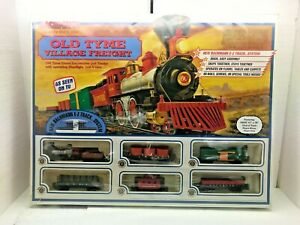 H0 Scale Bachmann Old Tyme Village Freight Train Set Sealed Complete #00604