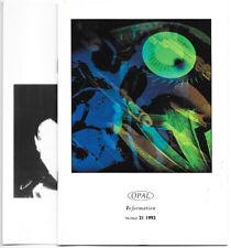 Opal Information #21 1992 Uk Magazine Brian Eno