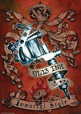 Poster Alchemy UL13 Ink Immortal Style Tattoo Gun