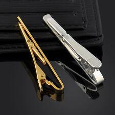 Gentleman Men Metal Silver Tone Simple Necktie Tie Bar Clasp Clip Clamp Pin