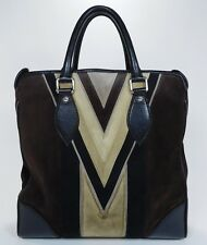 Rare Louis Vuitton Tote Bag Tobago Leather Suede Innsbruck Travel Carry on V525